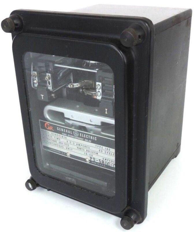 GE GENERAL ELECTRIC 12IAC51B3A INVERSE TIME OVERCURRENT RELAY IAC 24V 60 AMP