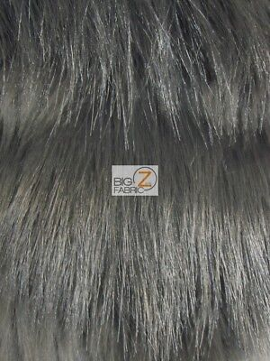 RAVEN BIRD SHAGGY FAUX FUR FABRIC - Smokey Pearl - BY THE YARD COSTUME CLOTHING