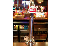 STELLA ARTOIS BEER PUMP: PUB SHED, MAN CAVE, HOME BAR, MAN CAVE, BREWERIANA HOME BREW ALE POOL TABLE