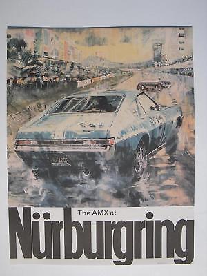 AMC AMX @ Nurburgring big dealership racing poster man cave FREE SHIPPING