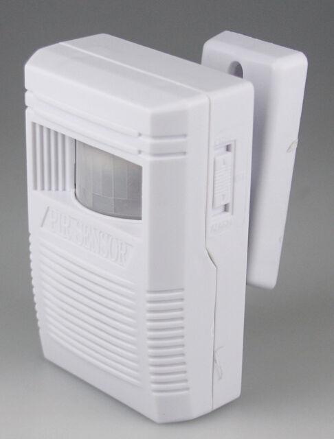 Eingangsmelder PIR  mit Ton / Alarm oder Gong wahlw. 85dB Bewegungsmelder Neu
