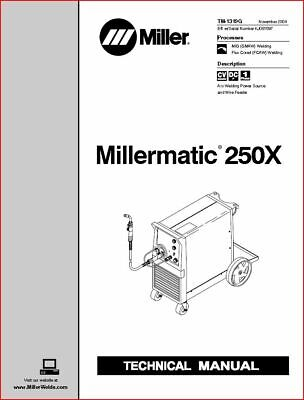 Millermatic 250x Technical Manual Eff With Kj081597