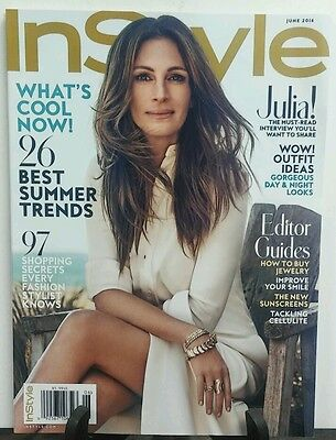 In Style June 2016 Julia Roberts 26 Best Summer Trends FREE SHIPPING