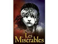 2 tickets for les Miserables on 24/03/17 at 7:30pm