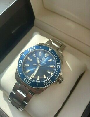 Tag Heuer Aquaracer WAY111C BA0928 Blue immaculate condition.