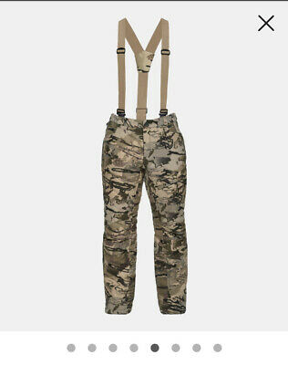 Under Armour 1297442-943 Mid Season Wool Forest Camo Hunting Pants $225 30 x 34