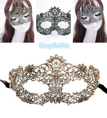 Black Mask Masquerade Carnival Venetian Mardi Gras Party (Gold Mardi Gras Mask)