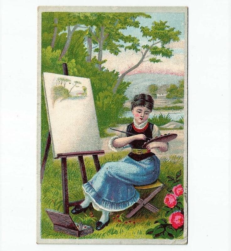 Antique Victorian Trade Card FRIEND