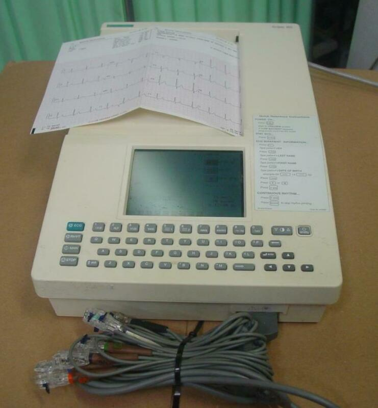 BURDICK SPACELABS ECLIPSE 850i MULTI-CHANNEL 12 LEAD INTERPRETIVE EKG ECG