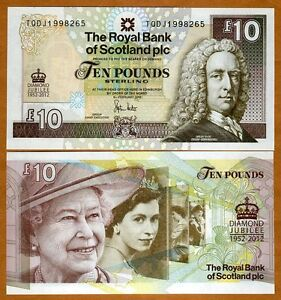 Scotland-10-pounds-6-6-2012-P-New-QEII-UNC-Commemorative-Diamond-Jubilee