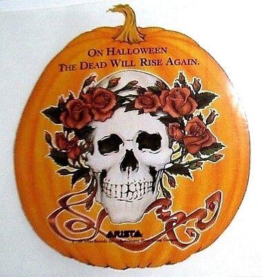 The Grateful Dead Halloween (Grateful Dead 1989 Original Sticker Arista Halloween pumpkin The)
