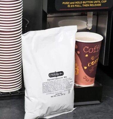 2 Huge 2 Lb Bags Cinnabon Flavored Instant Cappuccino Mix Powder Fast FREE Ship!