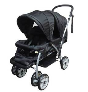 Brand New Mamakiddies Tandem Twin Baby Stroller Baby Pram Auburn Auburn Area Preview