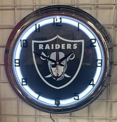 - Oakland Raiders NFL Blue Neon Wall Clock Car Truck Automotive Sign