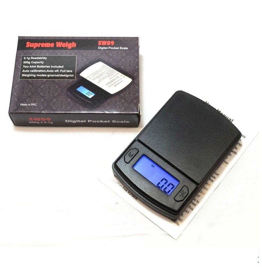 SW09 Digital Mini Pocket Scale 600 x 0.1 Readability Jewelry Food Small Weight