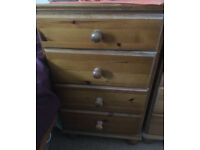 Bedside wooden tables/cabinets x2