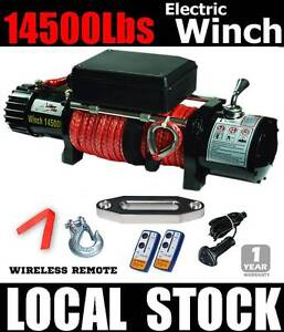 14500lbs 7.25ton electric winch remote 12v truck dyneema rope 4x Wangara Wanneroo Area Preview