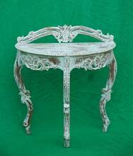 Lovely Antiqued white Solid wood Hall Table-Delivery Available Atwell Cockburn Area Preview