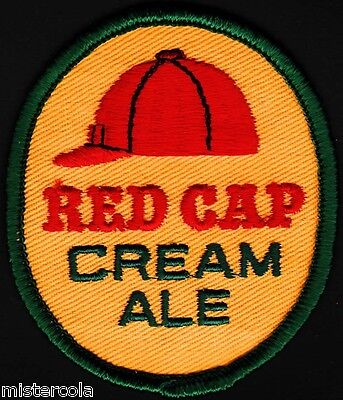 Vintage uniform patch RED CAP CREAM ALE beer cap pictured new old stock n-mint+