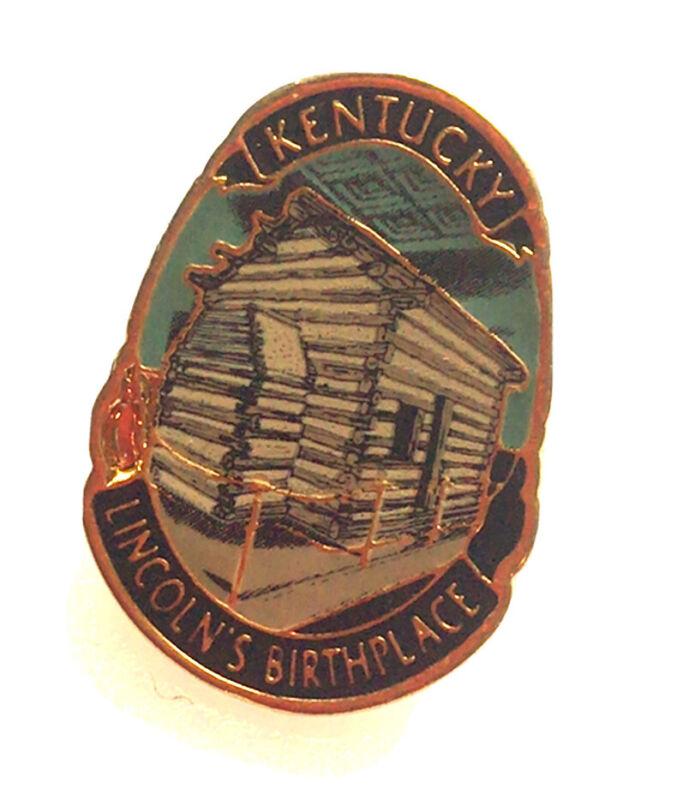 Kentucky Lincoln's Birthplace Pin Log Cabin