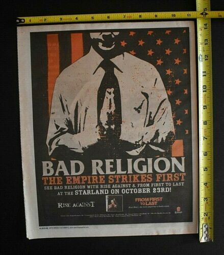 Bad Religion 2004 Color Concert Ad Starland Ballroom NJ