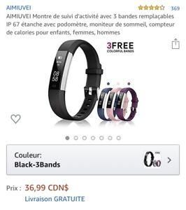 Fitness tracker/Montre/«style fitbit»
