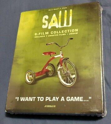 Saw Film Collection 1-8 Jigsaw (Blu-ray Disc + DVD Box Set) New SLIPCOVER