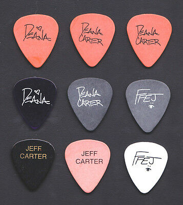 Set of 9 Deana Carter Signature Guitar Picks - 1996 Tour
