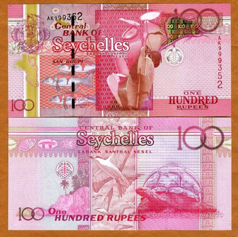Seychelles, 100 rupees, 2011, P-43, UNC > Holographic Sailfish