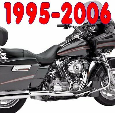 Cobra True Duals Dual Head Pipes Headers Exhaust 1995-2006 Harley Touring Bagger
