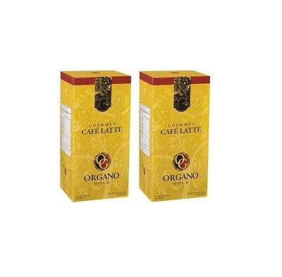 2 BOXES Organo Gold CAFE LATTE - SHIPS EXPEDITE  -  EXP. 9/2020