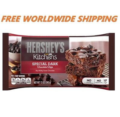 Hershey's Kitchens Special Dark Chocolate Chips 12 Oz WORLDWIDE SHIPPING - Hershey Dark Chocolate Chips