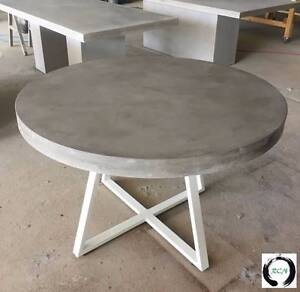 """The Athena"" An elegant round Lightweight Concrete Dining table Eumundi Noosa Area Preview"