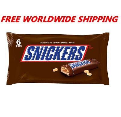 Snickers Milk Chocolate 6 Full Size Bars FREE WORLDWIDE SHIPPING comprar usado  Enviando para Brazil
