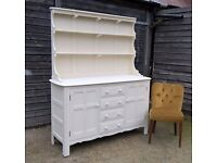 *INC DELIVERY*Stunning Ercol Solid Elm Oak Welsh Dresser in Cream Chalk ~ Shabby Chic (Sideboard)