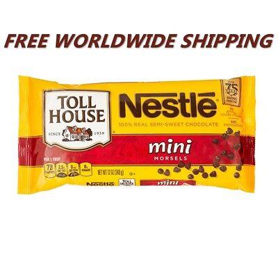Nestle Toll House Semi-Sweet Mini Chocolate Morsels 12 Oz WORLD SHIPPING