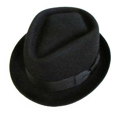 Classic Men's Woman's  100% Wool Felt Trilby Fedora Jazz Hat  Black](Cheap Black Fedora Hats)