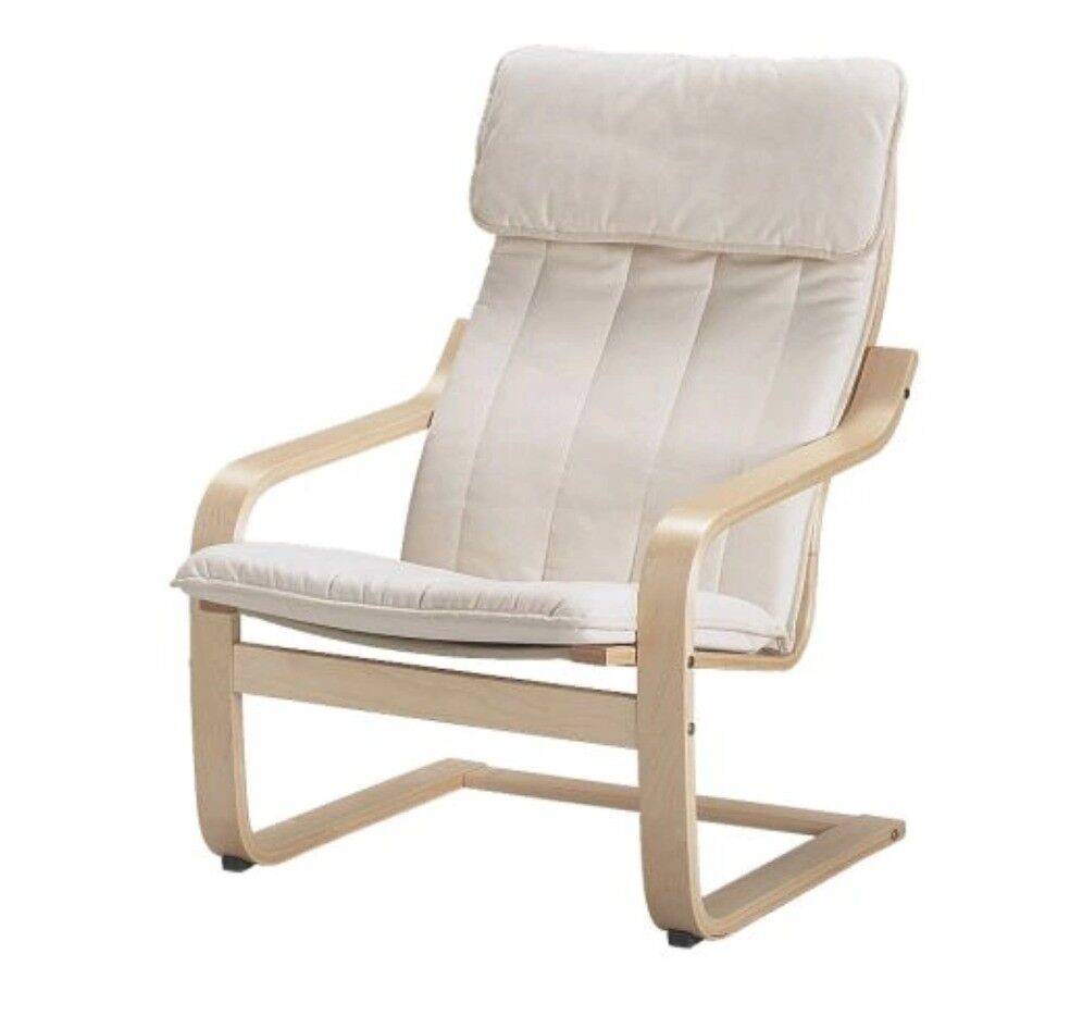 Armchair POÄNG Birch veneer/ransta natural second hand