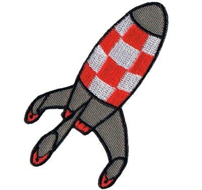 Retro Rocket Space Shuttle Applique Patch (Iron (Rocket Applique)