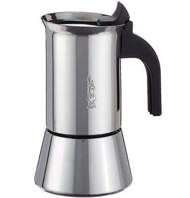 NIB Bialetti Venus Induction Stainless Stovetop Percolator Espresso Maker Moka
