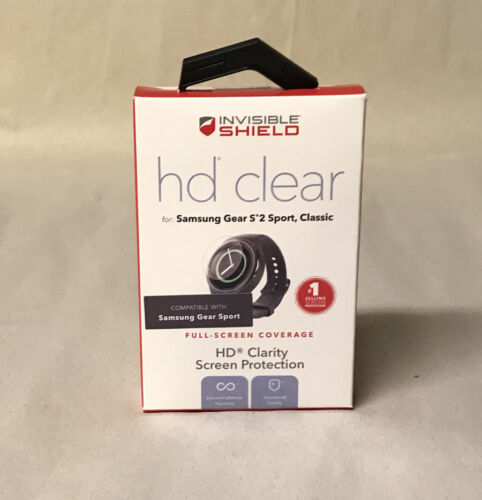 New! ZAGG InvisibleShield HD Clear Screen Protector for Samsung Gear S2 Sport
