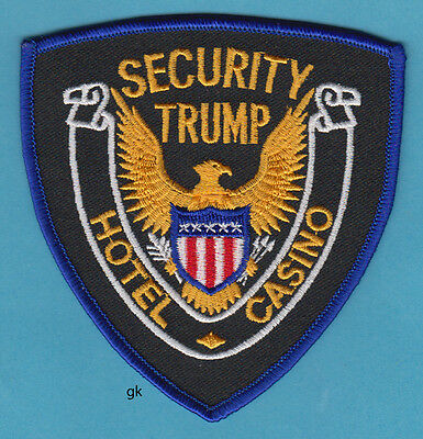Trump  Hotel   Casino Security Atlantic City   New Jersey Police Patch