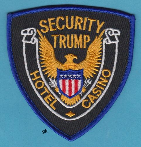 TRUMP  HOTEL / CASINO SECURITY ATLANTIC CITY , NEW JERSEY POLICE SHOULDER PATCH