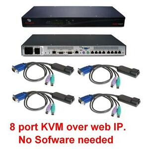 Avocent-DSR1021-8-port-KVM-over-IP-Switch-FULLY-TESTED