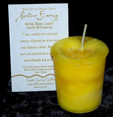 POSITIVE ENERGY REIKI candles Crystal Journey CANDLES MAGICK Wicca Pagan candles