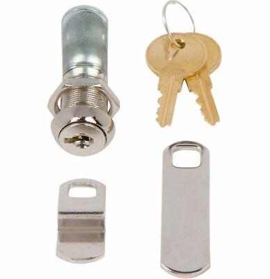 Disc Tumbler Cam Lock With 78 Cylinder And Chrome Finish Keyed Alike