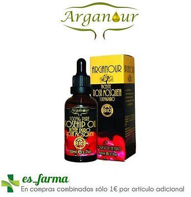 ARGANOUR ACEITE PURO ROSA MOSQUETA BIO 50ML 100% PURE ROSEHIP OIL COLD...