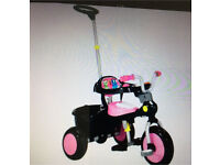 Raleigh trike bike with optional push along bar