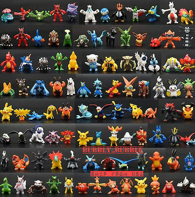 Pokemon 144 Pcs Set Mini Action Figures Pok Mon Go Toy Gift Set  Ship From Usa