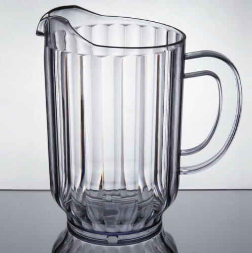 24 PACK Clear 60 Oz Plastic Round Bar Restaurant Water Soda Beer Serving Pitcher